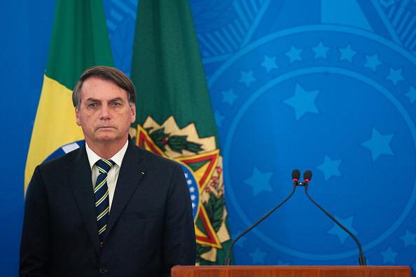 President of Brazil「President Jair Bolsonaro Holds a Press Conference about the Coronavirus (COVID-19) Pandemic」:写真・画像(14)[壁紙.com]