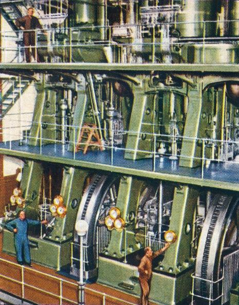 Chromolithograph「Huge triple expansion pumping engine, 1938. Artist: Unknown.」:写真・画像(7)[壁紙.com]