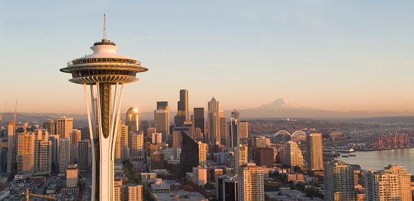 Seattle「Seattle Skyline and Space Needle」:スマホ壁紙(6)