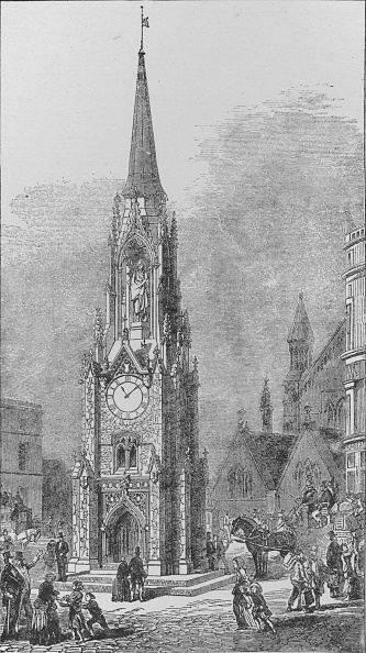 Architectural Feature「'The Wellington Testimonial Clock Tower which stood at the South End of London Bridge, as it appeare Artist: Arthur Ashpitel」:写真・画像(6)[壁紙.com]