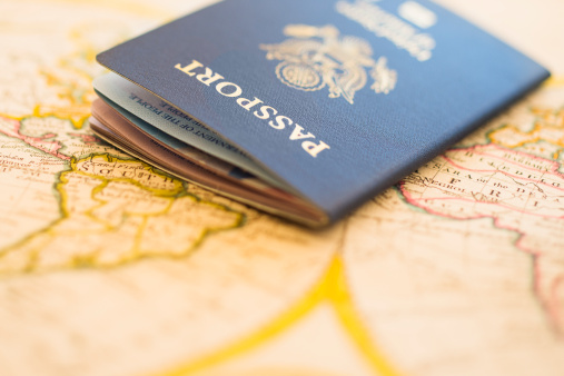 Identity「Passport sitting on antique map」:スマホ壁紙(19)