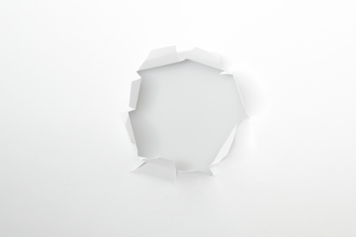 Aperture「Hole in a white paper」:スマホ壁紙(6)