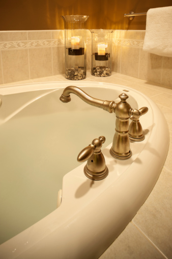 Health Spa「Luxurios bathroom hot tub soaking tub.」:スマホ壁紙(1)