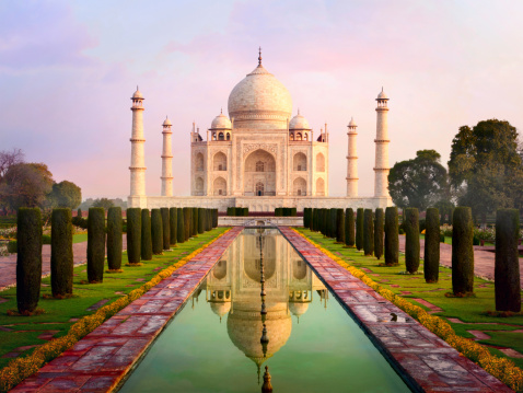 Agra「Taj Mahal spectacular early morning view」:スマホ壁紙(15)
