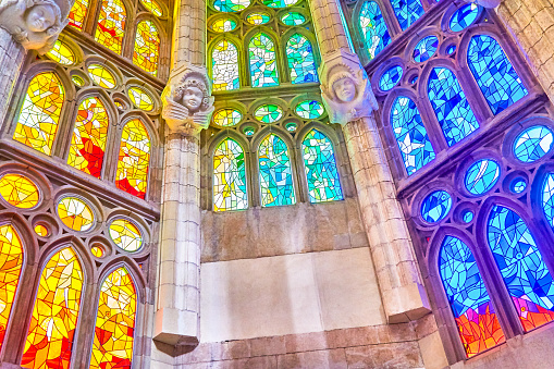 Stained Glass「Detail of roof and inside of the Sagrada Família」:スマホ壁紙(18)