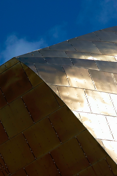 Cardiff Bay「Detail of roof structure. Designed and built in Wales, the Wales Millennium Centre on Cardiff Bay waterfront is made of 5000 tonnes of structural steel. Architect Percy Thomas, Structural Engineers: Arup. Contractor: Sir Robert McAlpine. Wales, UK.」:写真・画像(11)[壁紙.com]