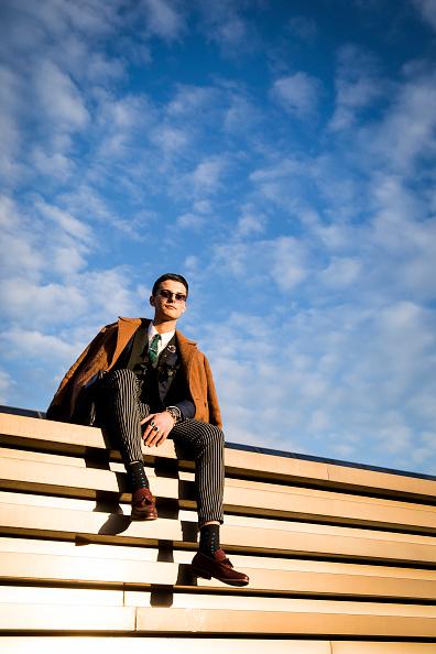 Men「Street Style: January 10 - 95. Pitti Uomo」:写真・画像(9)[壁紙.com]