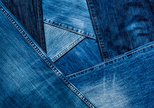 Denim「Jeans in various shades of blue」:スマホ壁紙(3)