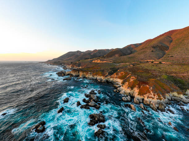 Pacific Ocean at Big Sur:スマホ壁紙(壁紙.com)