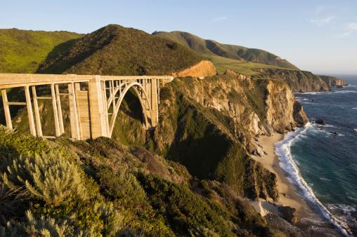Big Sur「Pacific Ocean landscape with Bixby Canyon bridge.」:スマホ壁紙(18)