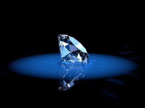 Durability「Shiny diamond gem in a blue spotlight」:スマホ壁紙(9)