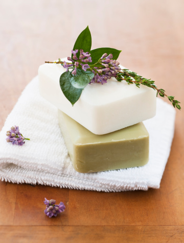 Relaxation「Lavender and soap bars on towel」:スマホ壁紙(8)