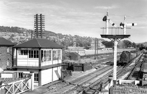 Construction Equipment「Darley Dale looking south-east showing the M.R. signal-box and gantry. Northwich based」:写真・画像(15)[壁紙.com]