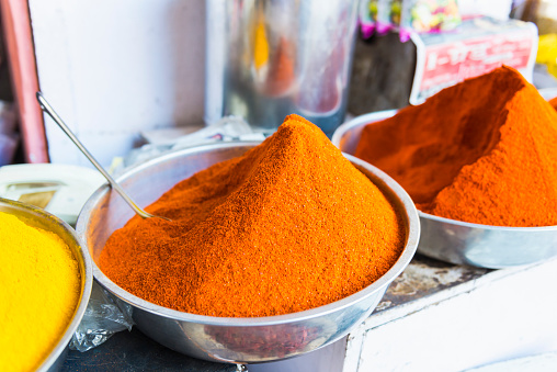 Rajasthan「Spices for sale, Udaipur, India」:スマホ壁紙(1)