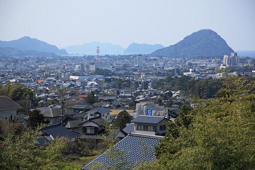 歴史「View of Hagi City from Shoin Memorial Park, Yamaguchi, Japan」:スマホ壁紙(12)