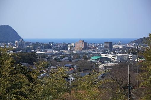 歴史「View of Hagi City from Shoin Memorial Park, Yamaguchi, Japan」:スマホ壁紙(13)