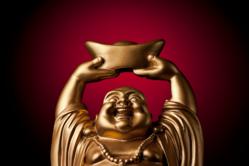 仕事運「金プロスペリティ Buddha Maitreya」:スマホ壁紙(13)