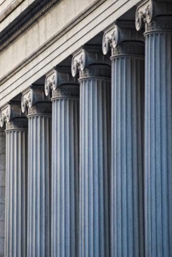 Bank - Financial Building「Concrete columns on building」:スマホ壁紙(6)