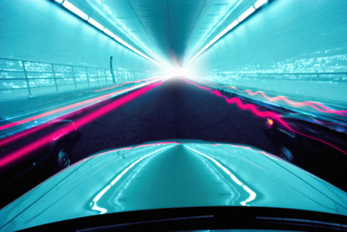 Turquoise Colored「Cars driving through tunnel (long exposure, digital enhancement)」:スマホ壁紙(15)