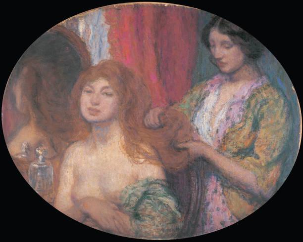 Combing The Hair C 1912:ニュース(壁紙.com)