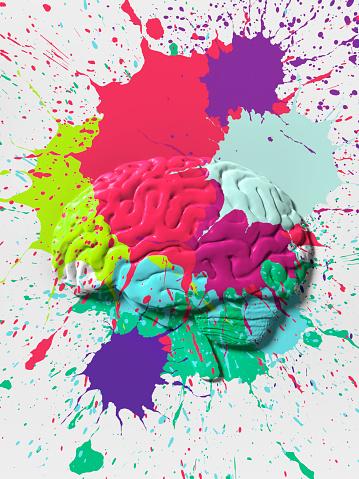 Desire「Paint splattered Brain」:スマホ壁紙(6)