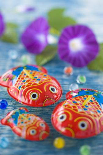 朝顔「Tin Toy of Goldfish」:スマホ壁紙(13)