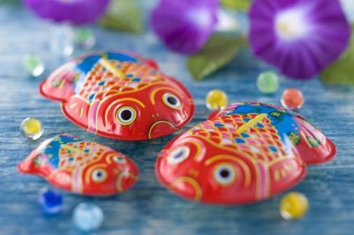 朝顔「Tin Toy of Goldfish」:スマホ壁紙(6)