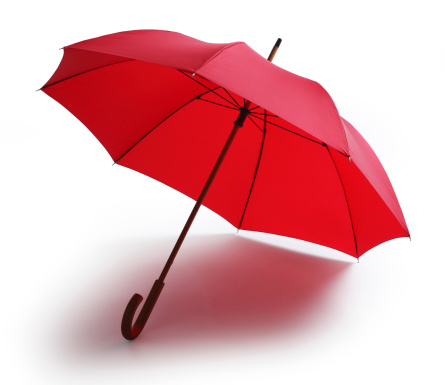 Sunshade「Red Umbrella Isolated on a White Background」:スマホ壁紙(16)