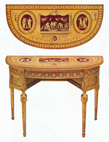 Ornate「'One of a pair of Adam side-tables, the top painted in the manner of Pergolesi', 18th century. Artist: Robert Adam.」:写真・画像(18)[壁紙.com]