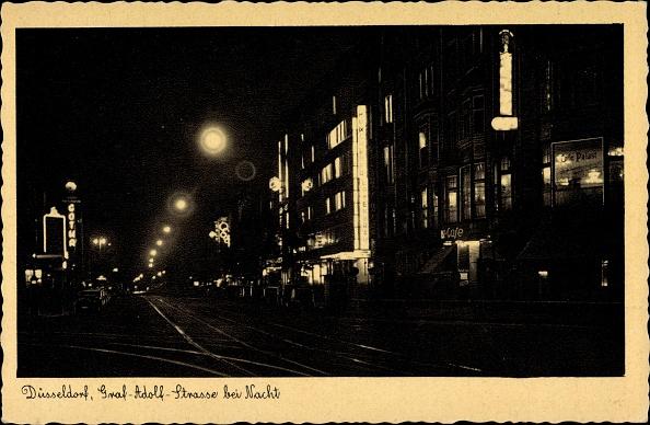 Bun - Bread「Ak Düsseldorf, Graf Adolf Straße bei Nacht, Cafe Palast」:写真・画像(8)[壁紙.com]