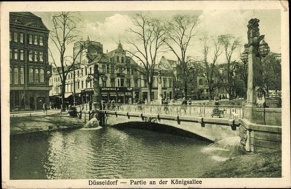 Düsseldorf「Ak Düsseldorf, Partie an der Königsallee, Brücke」:写真・画像(17)[壁紙.com]