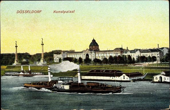 Passenger Craft「Ak Düsseldorf, Dampfer am Kunstpalast, Säulen, Museum」:写真・画像(4)[壁紙.com]
