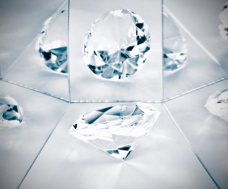 Mirror - Object「Diamond reflected in mirrors」:スマホ壁紙(10)