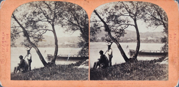 Salzkammergut「Ebenzweier On The Shore Of The Traunsee; Salzkammergut. About 1880. Stereo Photograph By Wilhelm Burger.」:写真・画像(2)[壁紙.com]