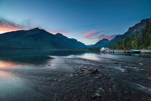 McDonald Lake「Sunset at Mcdonald Lake」:スマホ壁紙(5)