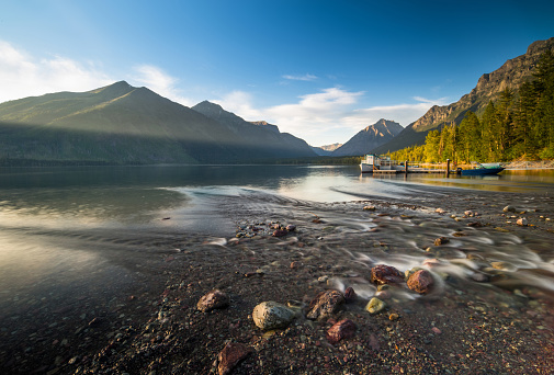 McDonald Lake「Sunset at Mcdonald Lake」:スマホ壁紙(10)