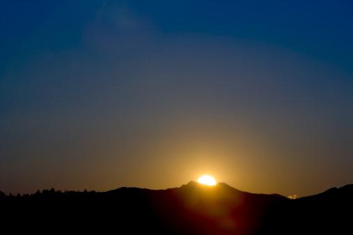 Ibaraki Prefecture「Sunset at Mount Tsukuba」:スマホ壁紙(4)