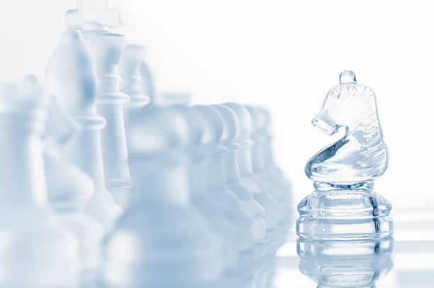 transparent glass chess isolated on white:スマホ壁紙(壁紙.com)