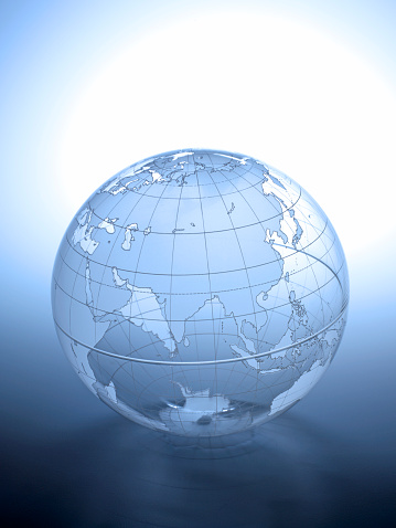 Latitude「Transparent globe rotated to show Asian continent」:スマホ壁紙(8)