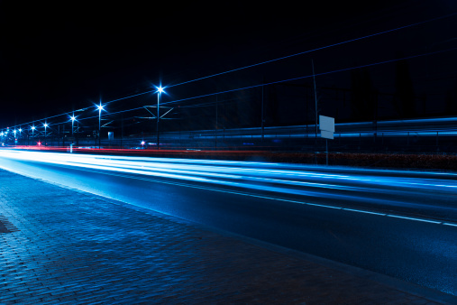 North Holland「Traffic car light trails, Amsterdam」:スマホ壁紙(3)