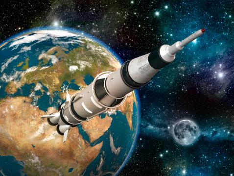 Space shuttle「Space rocket」:スマホ壁紙(12)