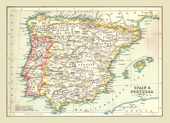 Physical Geography「Map Of Spain And Portugal」:写真・画像(1)[壁紙.com]