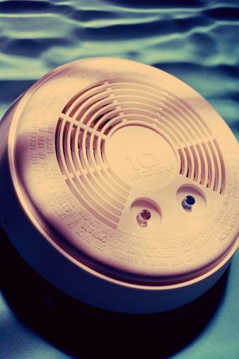 Smoke Detector「Shot of smoke detector in smoky room」:スマホ壁紙(9)