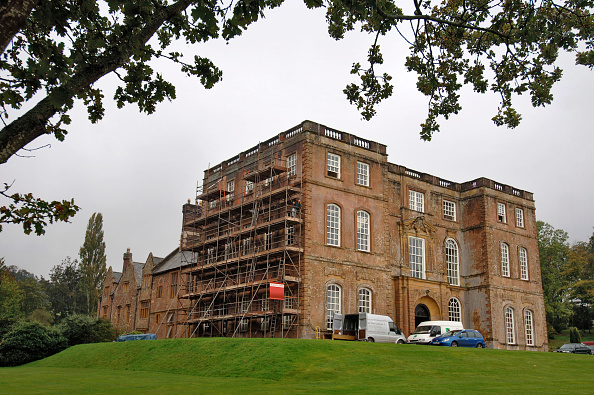 Travel Destinations「Halswell House near Bridgwater Somerset UK with scaffolding during its renovation」:写真・画像(0)[壁紙.com]