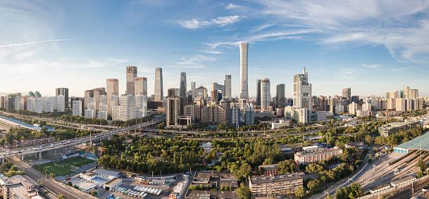 Beijing「Beijing CBD Skyline Panoramic Daytime」:スマホ壁紙(8)
