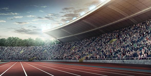 オリンピック「オリンピック競技場、ランニングトラック」:スマホ壁紙(16)