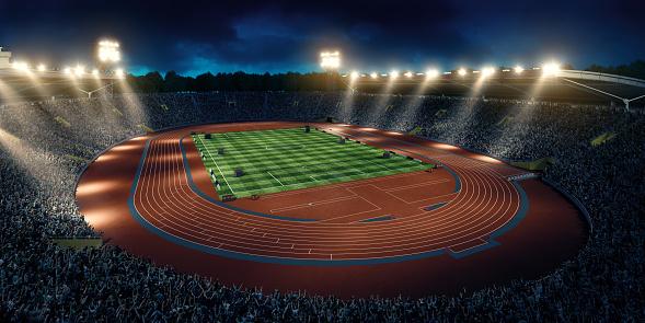 オリンピック「オリンピック競技場、ランニングトラック」:スマホ壁紙(19)