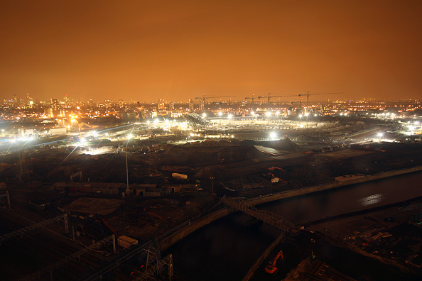 Horizon「Olympic Stadium during construction, Stratford, London, UK, evening, January 2009, looking West」:写真・画像(11)[壁紙.com]