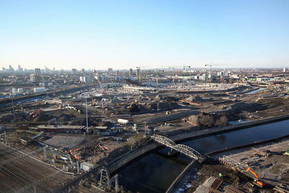 Horizon「Olympic Stadium during construction, Stratford, London, UK, afternoon, January 2009, looking West」:写真・画像(8)[壁紙.com]