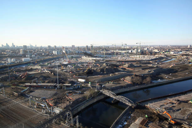 Olympic Stadium during construction, Stratford, London, UK, afternoon, January 2009, looking West:ニュース(壁紙.com)